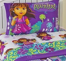 Dora and Friends Adventure Awaits 3 Piece Twin Sheet Set