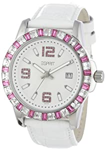 Esprit Damen-Armbanduhr Spark Analog Quarz Leder Es103342007