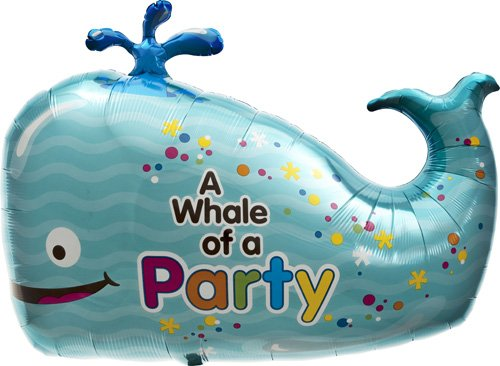 Whale of a Party Helium Foil Balloon - 36 inch