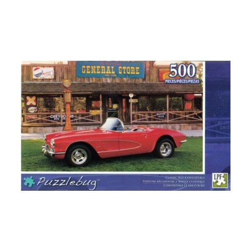 Puzzlebug Puzzles 500 pc Classic Red Convertible