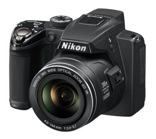 Nikon COOLPIX P500 Compact Digital Camera - Black (12.1MP, 36x Optical Zoom) 3 inch LCD