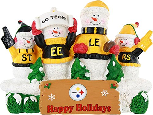 Pittsburgh Steelers Resin Snowman Bench from Forever Collectibles