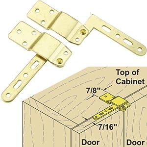 Platte River 911215, Package Of 5 Pair, Hardware, Hinges, Specialty, Single Mirror Door Hinge