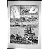 操縦のポーツマス海軍 Orontes のブラッドハウンド Vesuvius 1886