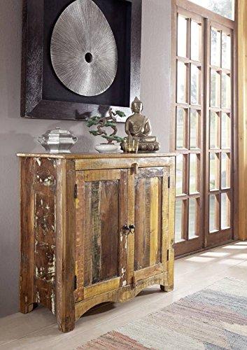 massiv Altholz Möbel lackiert Kommode Massivmöbel mehrfarbig Massivholz Spirit #19