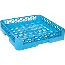 "Carlisle RB14 OptiClean Open/Bowl Rack, Polypropylene, 20.88"" Length, 20.88"" Width, 4.00"" Height, Blue (Case of 6)"