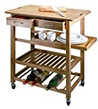Natural Living Bamboo Kitchen Island