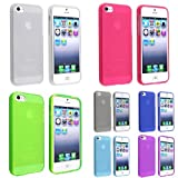 eForCity 7 x Checker TPU Frost Case (Smoke , white , Hot Pink , Dark Blue , Green , Light Blue , Purple) compatible with the NEW Apple iPhone 5
