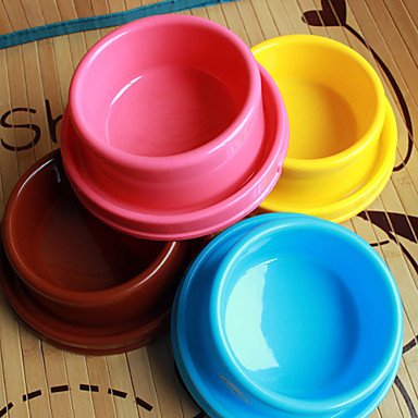 Zcl Anti-Ant Plastic Pet Food Bowl For Dogs Cats (Assorted Color,18 X 18 X 7.5Cm) , Brown