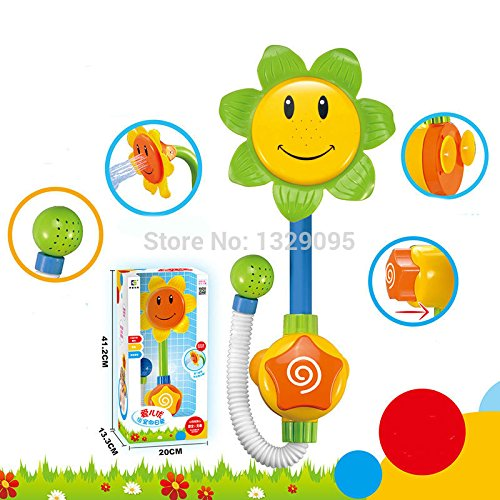 [Baby Bath Toys Children Sunflower Shower Faucet Bath Learning Toy Gift] (Wigs Au)