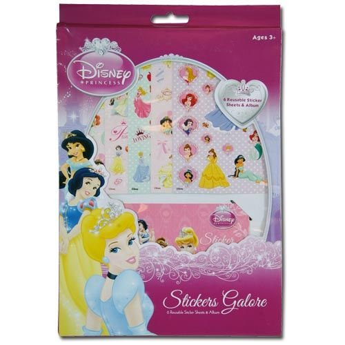 WeGlow International Disney Princess Sticker Sheet & Sticker Album Set (Set of 2)