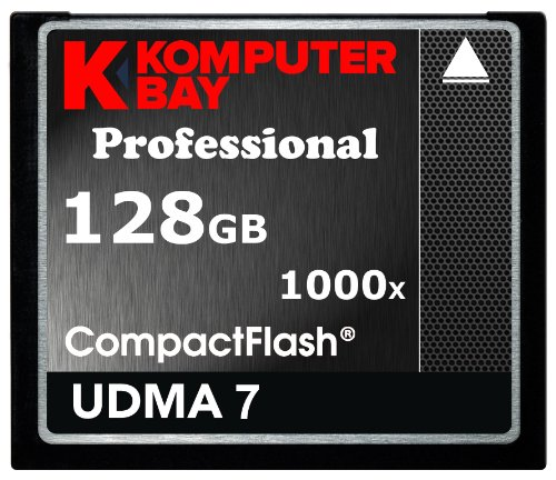 KOMPUTERBAY 128GB Professional COMPACT FLASH CARD CF 1000X 150MB/s Extreme Speed UDMA 7 RAW 128 GB Black Friday & Cyber Monday 2014