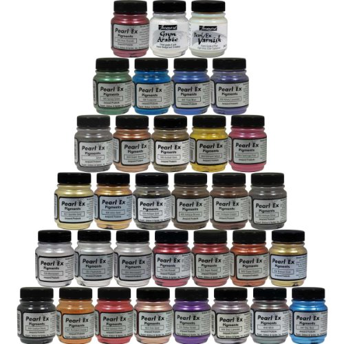 Jacquard custom pearl ex powdered pigments 33 color set for Pearls paint supply