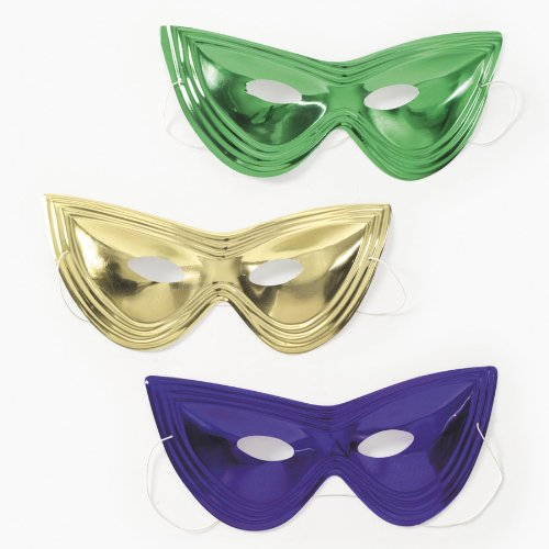 Mardi Gras Cat Eye Masks (2 dz)