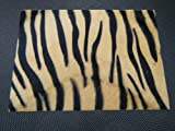 19.5cm x 14cm Faux Furry Fabric Beige Animal Zebra Stripes Prints Skin decal stickers for Craft Kids Scrap Books Birthday Card Mobile phone - By Fat-Catz