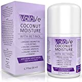 VoilaVe Coconut Moisture with Retinol Organic Oil Face Moisturizer Plus 2.5% Retinol Plus Vitamin C & E Plus Chamomile & Argan Oil, 1.7 fl. oz.