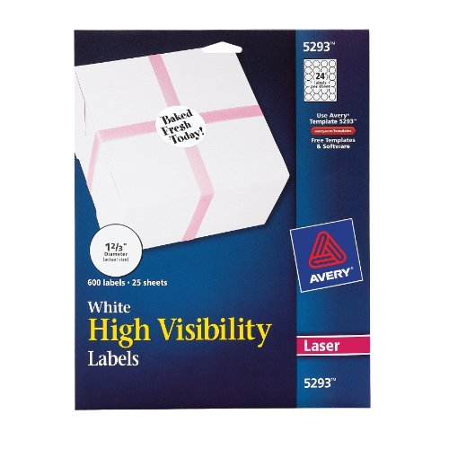 avery high visibility 1 2 3 inch diameter white labels 600 With avery 1 1 2 inch round labels