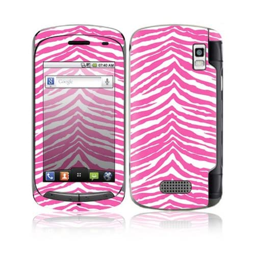 Pink Zebra Design Decorative Skin Cover Decal Sticker for LG Genesis US760 Cell Phone