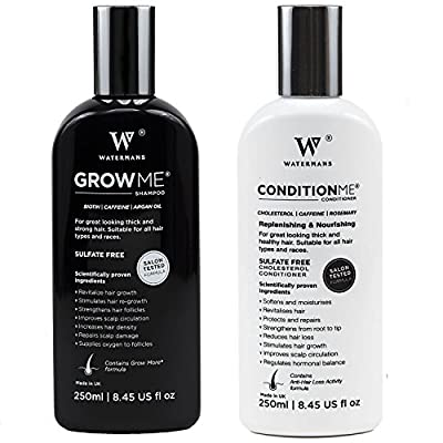 Hair Growth Shampoo and Conditioner by Watermans - Combo Pack - Best Hair Growth System
