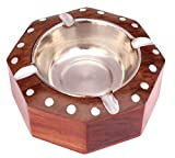ITOS365 Handmade Wooden Ashtray Octagon for Home Office Car Gifts