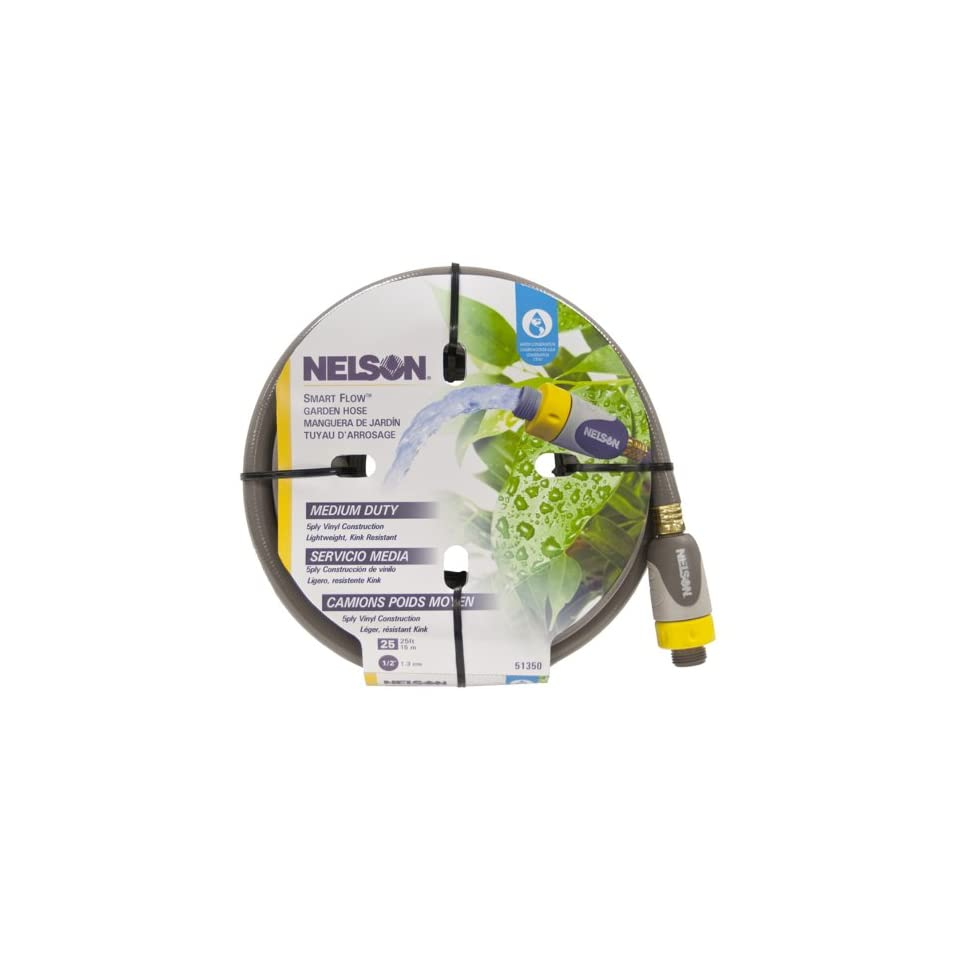 Nelson 51350 6 Ply Heavy Duty SmartFlow Hose, 1/2 Inch by 50 Foot