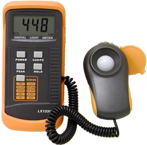Mastech Digital Illuminance/Light Meter LX1330B , 0 - 200,000 Lux Luxmeter