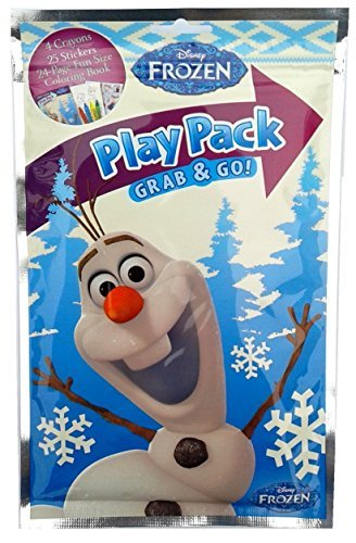 Disney FROZEN OLAF PLAY PACK GRAB & GO - Stickers, Activity Color Book, Crayons
