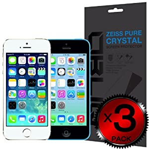 iPhone 5S Screen Protector, Obliq [HD Clarity w/ Lifetime Warranty] iPhone 5S 5C 5 Screen Protector [3 Pack] [Zeiss Pure Crystal] - Premium Japanese PET Film - Verizon, AT&T, T-Mobile, Sprint, International, and Unlocked - Screen Protector for Apple iPhone 5S 5 5C Lite 2013 Model