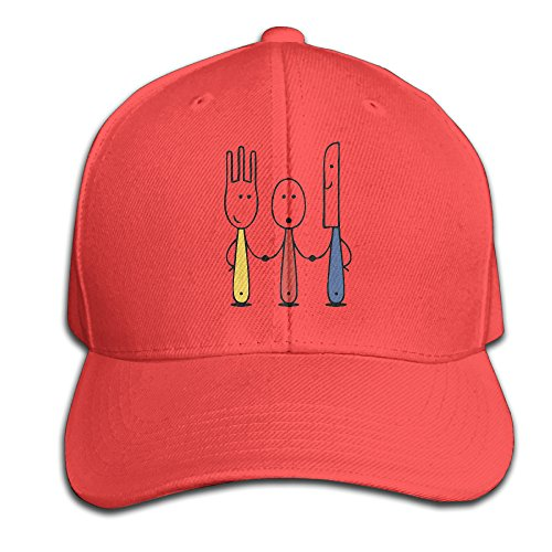 KF26 Knife Fork Spoon Family Made From 100% Cotton. 3.5 Inches High. Baseball-caps Gifted For Both Men And Women. Hand
