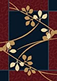 Contemporary Area Rug, United Weavers Manhattan 5'x8' Brentwood Navy Blue