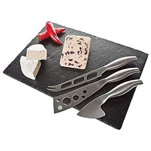 Occasion tabla de pizarra para cortar queso y 3 for Cuchillo cortar queso