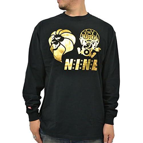 (ネスタブランド) NESTA BRAND 大きいサイズ メンズ Tシャツ メンズ 長袖 コラボ プリント 柄 3color 3L ブラック