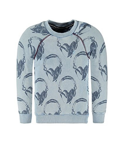 Marc O' Polo Kids Sweatshirt 1/1 Arm, Felpa Bambino, Blau (Infinity Blue 3210), 7 anni