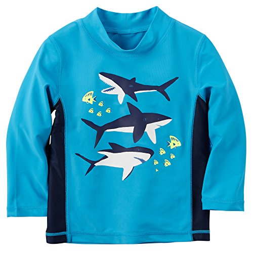 Carter 39 s baby boy 39 s shark rash guard shirt 24m blue for Baby rash guard shirt