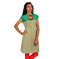 HastaVarna Designer Cotton Kurtis Brocket Silk Series