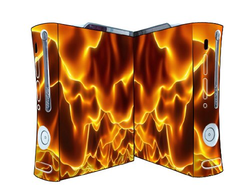 Bundle Monster Vinyl Skins Accessory For Xbox 360 Game Console - Cover Faceplate Protector Sticker Art Decal - Inferno