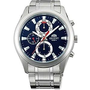 Orient Men's Steel Bracelet & Case Quartz Blue Dial Analog Watch FUY07001D0