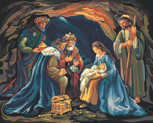 Nativity Paint By Number Kit