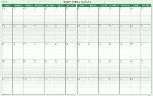 60 Day Calendar   Calendar Template 2016