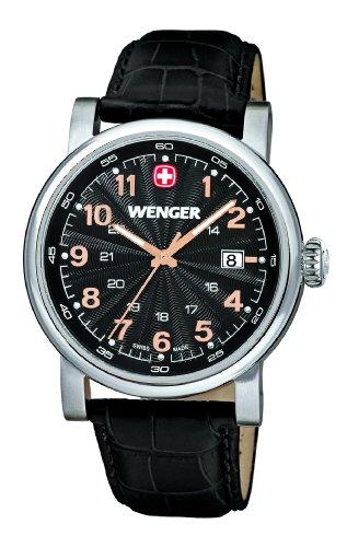 Wenger - 01.1041.105 - Montre Homme - Quartz Analogique - Aiguilles lumineuses - Bracelet Cuir Marron