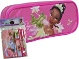 New Princess and the Frog Pink Pencil Case and Stationery Set