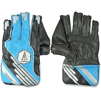 Anthem Mercury Wicket Keeping Gloves (Full Size, Black Blue)