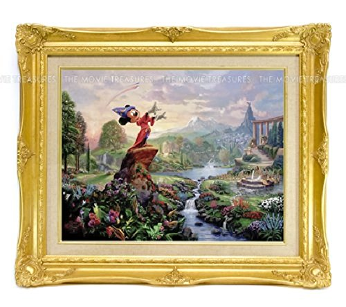 Western painting Disney Mickey Mouse Fantasita Thomas Kinkade with luxury frame
