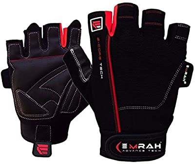 EMRAH Amara Leather Weight Lifting Gym Gloves Cross Training Bodybuilding Fitness Workout by EMRAH