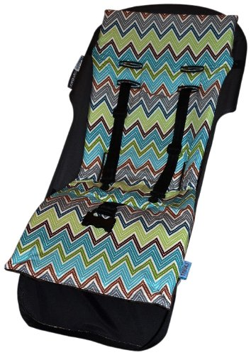 Tivoli Couture Nu Comfort Memory Foam Stroller Pad and Seat Liner, Zig Zag Brown (Discontinued by Manufacturer)