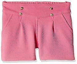 Little Kangaroos Girls' Shorts (Pack of 2) (11564_Pink_6 year)
