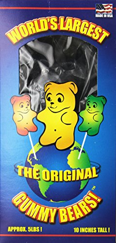 World's Largest Gummi Bear - Blue Raspberry Net Wt. 5LBS (Worlds Biggest Gummy Bear compare prices)