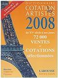 echange, troc Christian Sorriano - Dictionnaire cotation des artistes 2008