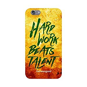 HomeSoGood Hard Work Beats Talent Multicolor 3D Mobile Case For iPhone 6 (Back Cover)