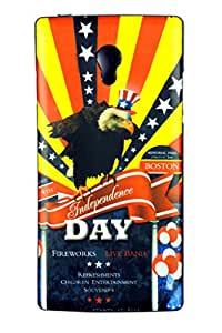 dk America flag with bird printed back cover for miceomax fire 4G